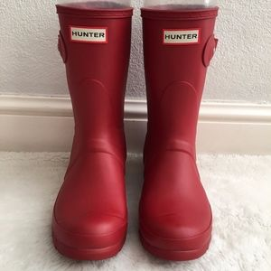 Hunter Red Rain Boots Size 6M / 7F